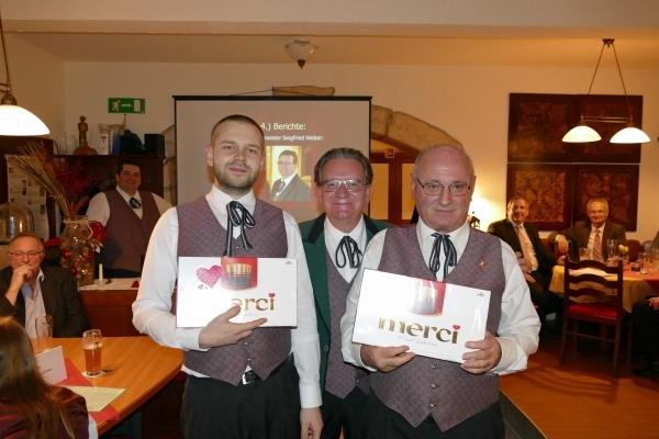 Proben-Merci für Stefan Altmanninger und Willi Leb