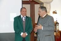 Neo-Obmann Andreas Stockhammer mit Alt-Bürgermeister Mag. Anton Holzleithner